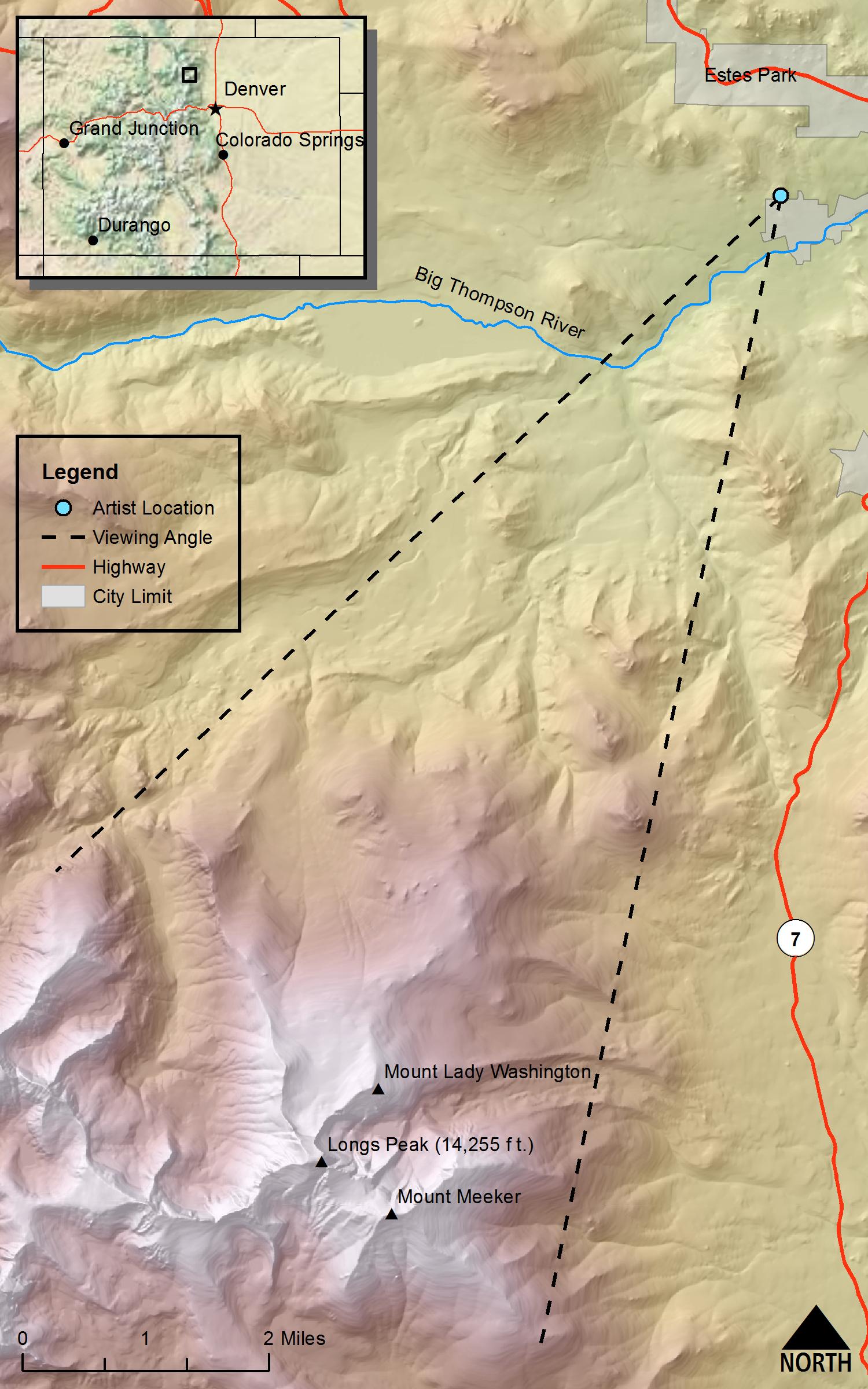 Hayden\'s Landscapes Revisited - Longs Peak/Exfoliation