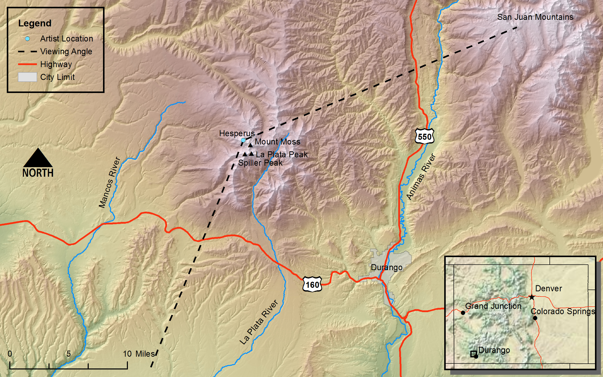 Hayden\'s Landscapes Revisited - Hesperus Mountain